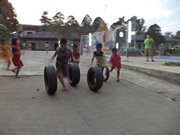 Pre-event tire race.